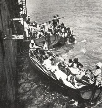 Evacuation des Arméniens du Musa Dagh en 1915 sur les navires français...