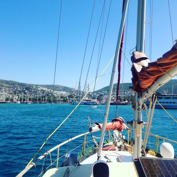 40 Jours, The Boat, on the sea with us the first time...